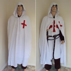 Knights Templar Hooded Cloak